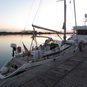 Sonnenuntergang vor der Marina Uno